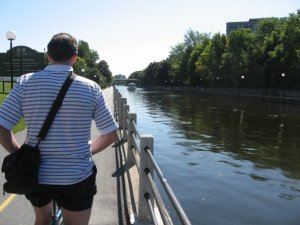 Steve along The Rideau Canal