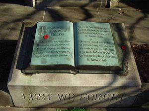 In Flanders Fields memorial at John McCrae birthplace, Guelph Ontario